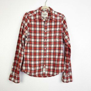 Abercrombie & Fitch Mens M Plaid Button Down Shirt